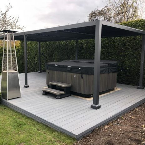 Mojave-Metal-Gazebo-Silver-Grey-Aluminium-5.4x3.6-With-Jacuzzi_From-Right_Side