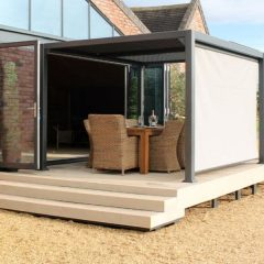 Mojave Metal Gazebo 3m x 3m – Grey Aluminium Frame – Shuttered Roof