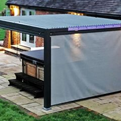 Mojave Metal Gazebo Silver Grey Aluminium Frame - Hot tub screen