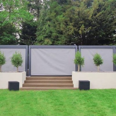 Mojave-Metal-Gazebo-Silver-Grey-Aluminium-Three-Units-Combined-On-Deckin