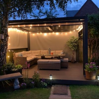 Mojave-Metal-Gazebo-Silver-Grey-Aluminium-With-Lights