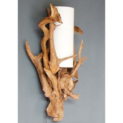 Negara Reclaimed Teak Root Wall Lamp