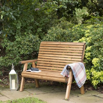 RSPB Sustainably Sourced Wooden Garden Bench 2 Seater 127cm