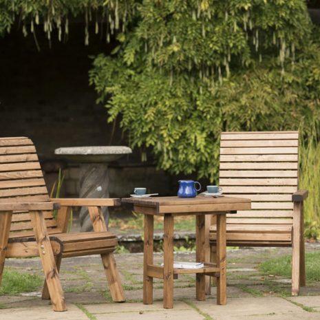 RSPB Sustainably Sourced Wooden Garden Love Seat - British Designed & Handmade