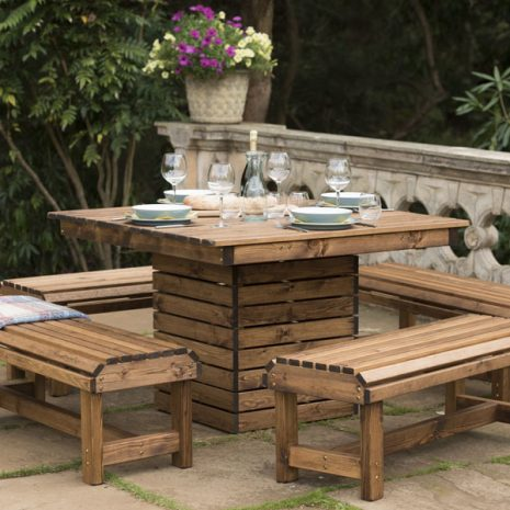 RSPB Sustainably Sourced Wooden Table + Bench Set