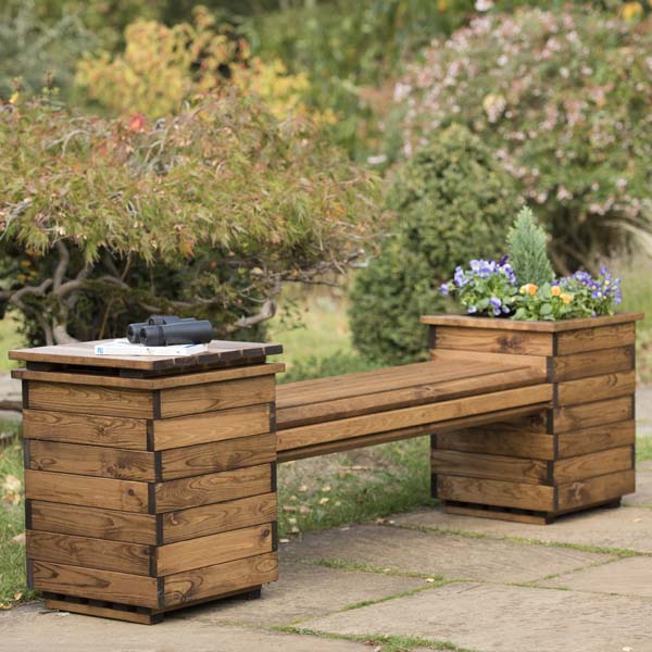 Pleasant Rspb Garden Planter Bench Seat Sustainably Sourced Wood 2 Seater Uwap Interior Chair Design Uwaporg