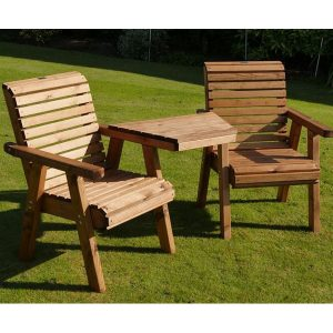 Wooden Garden Love Seat - British Designed & Handmade