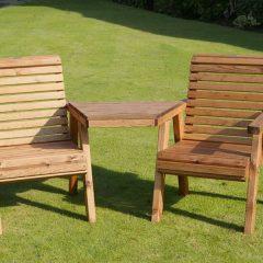 Bronte Wooden Garden Love Seat – British Designed & Handmade