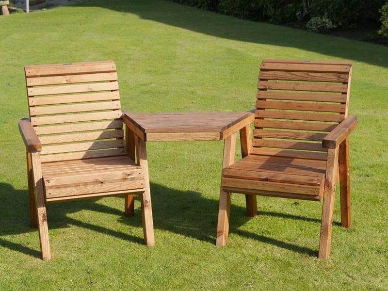 Pleasant Bronte Wooden Garden Love Seat British Designed Handmade Inzonedesignstudio Interior Chair Design Inzonedesignstudiocom