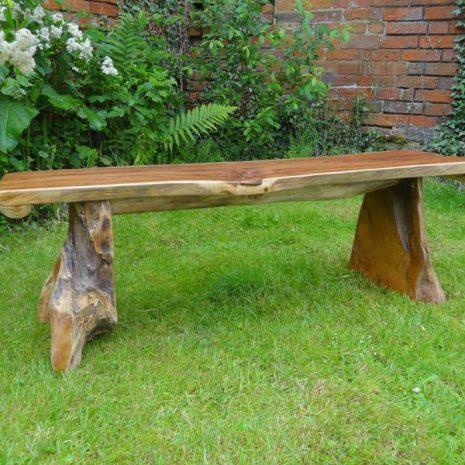 Bakulan 2 Seater Backless Teak Root Garden Bench 140cm 2