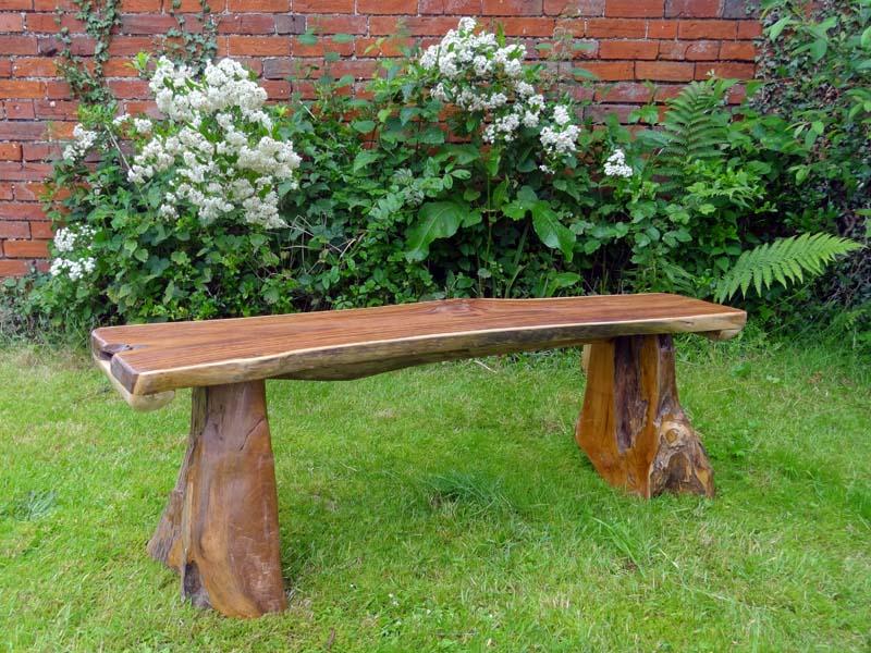 Fine Bakulan Teak Root Backless Garden Bench 140Cm 2 Seater Squirreltailoven Fun Painted Chair Ideas Images Squirreltailovenorg