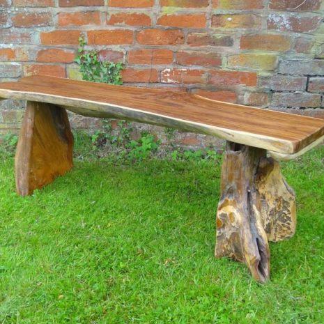 Bakulan 2 Seater Backless Teak Root Garden Bench 140cm 4