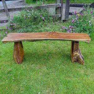 Bakulan 2 Seater Backless Teak Root Garden Bench 140cm