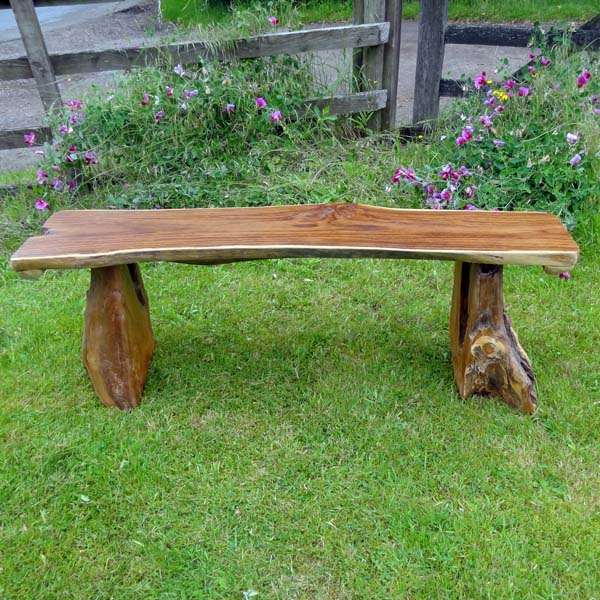 Stupendous Bakulan Teak Root Backless Garden Bench 140Cm 2 Seater Squirreltailoven Fun Painted Chair Ideas Images Squirreltailovenorg