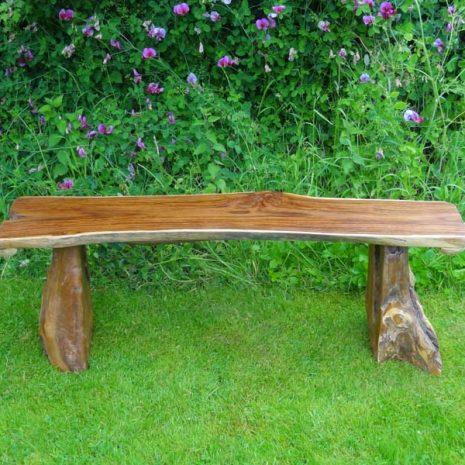 Bakulan 2 Seater Backless Teak Root Garden Bench 140cm Makasi 2