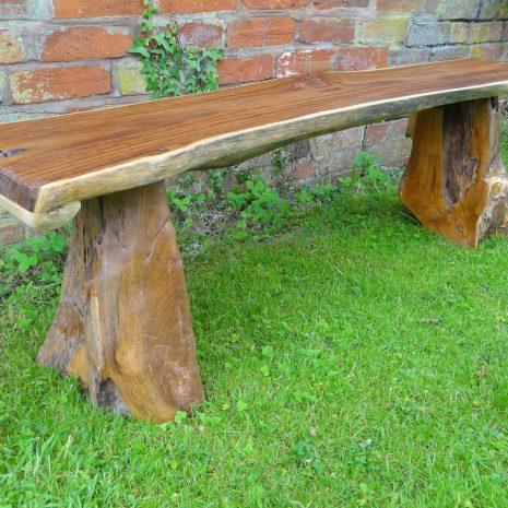 Bakulan 2 Seater Backless Teak Root Garden Bench 140cm Makasi