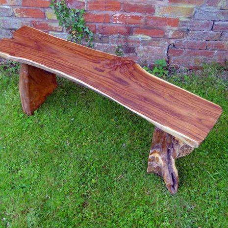 Bakulan 2 Seater Backless Teak Root Garden Bench 140cm - Seat