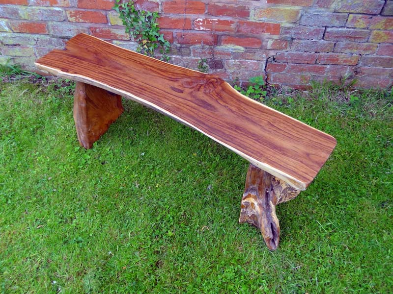 Fantastic Bakulan Teak Root Backless Garden Bench 140Cm 2 Seater Squirreltailoven Fun Painted Chair Ideas Images Squirreltailovenorg