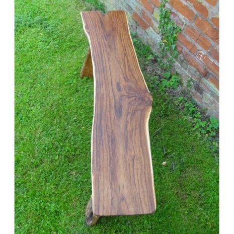 Bakulan 2 Seater Backless Teak Root Garden Bench 140cm - Top view