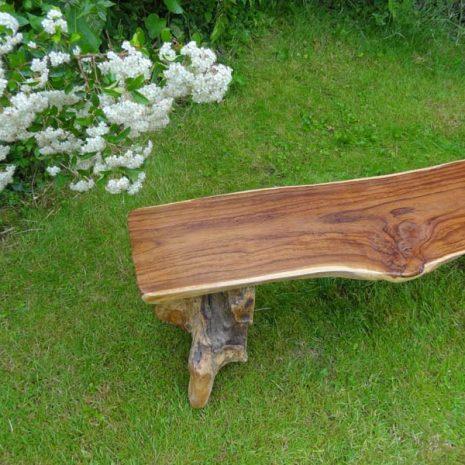 Bakulan Teak Root Backless Garden Bench 140cm 2 Seater