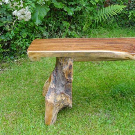 Bakulan Teak Root Backless Garden Bench Leg