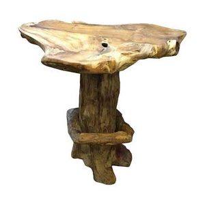 Bakulan Teak Root High Bar Table 110cm Tall