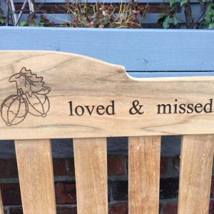 Memorial Bench Laser Engraving - Rossetti Bench