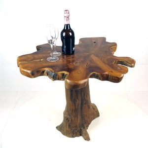 PJ_MAK_MJ15 Raja Mushroom Shaped Teak Root Side Table W60 H60 D60cm_001