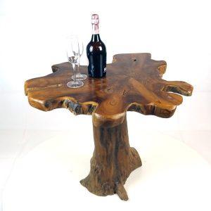 PJ_MAK_MJ15 Raja Mushroom Shaped Teak Root Side Table W60 H60 D60cm_001