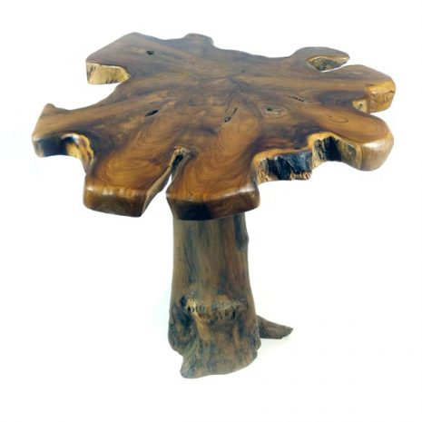 PJ_MAK_MJ15 Raja Mushroom Shaped Teak Root Side Table W60 H60 D60cm_003a