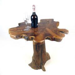PJ_MAK_MJ15 Raja Mushroom Shaped Teak Root Side Table W60 H60 D60cm_001a