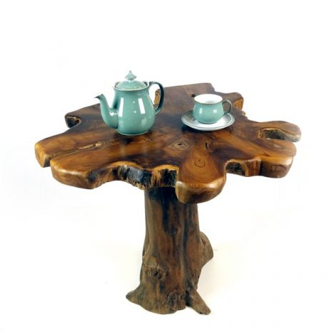 PJ_MAK_MJ15 Raja Mushroom Shaped Teak Root Side Table W60 H60 D60cm_002a