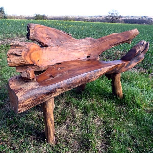 Astounding Bakulan 2 Seater Teak Root Garden Bench 160Cm Squirreltailoven Fun Painted Chair Ideas Images Squirreltailovenorg