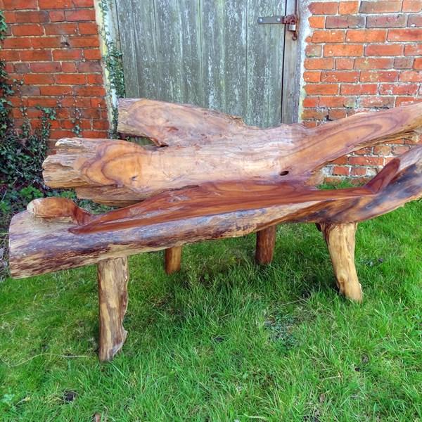 Super Bakulan 2 Seater Teak Root Garden Bench 160Cm Squirreltailoven Fun Painted Chair Ideas Images Squirreltailovenorg