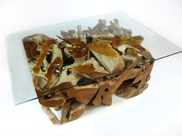 PJ_MAK_MJ543 Padang Large Rectangular Teak Root Glass Top Coffee Table W120 H43cm D90cm_009