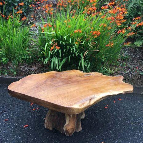 Raja 80cm Teak Root Coffee Table - Mushroom Shaped - 45cm tall
