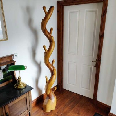 Teak Tree Root Coat Stand 190cm Tall Wooden