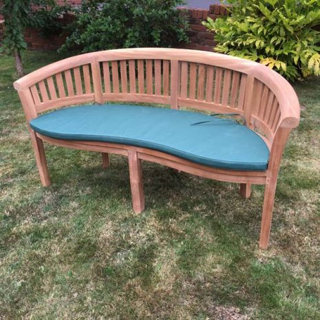3 Seater Teak Half Moon Conversation Bench 160cm With Cushion