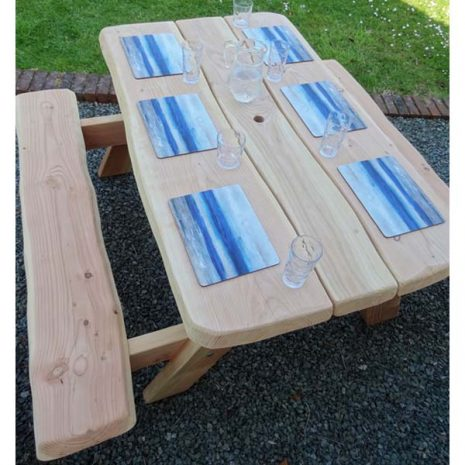6 Seater A Frame Picnic Table from above