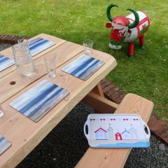 A Frame Picnic Table Locally Sourced Welsh Wood Handmade