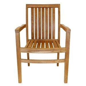 Hamilton Sustainable Teak Stacking Garden Armchair