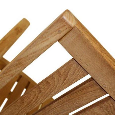 Hamilton Sustainable Teak Stacking Garden Armchair - Back detail