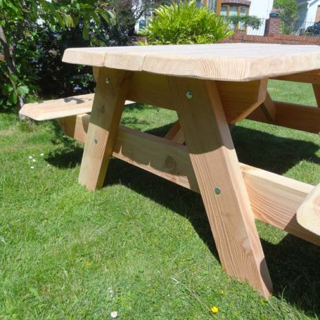 Handmade Welsh Wood A Frame Picnic Table 6 Seat