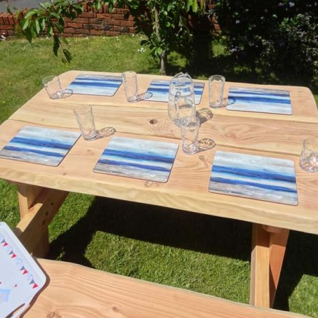 Handmade in Wales - 6 Seater Wooden A Frame Picnic Table 150cm