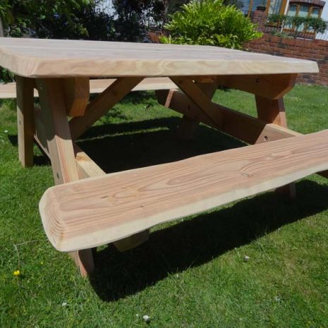 Handmade in Wales Softwood A Frame Picnic Table 150cm