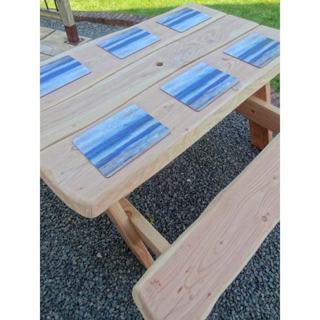 Handmade in Wales - Wooden 6 Seater A Frame Picnic Table