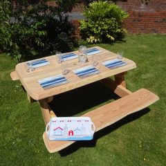 Handmade in Wales - Wooden A Frame Picnic Table 150cm