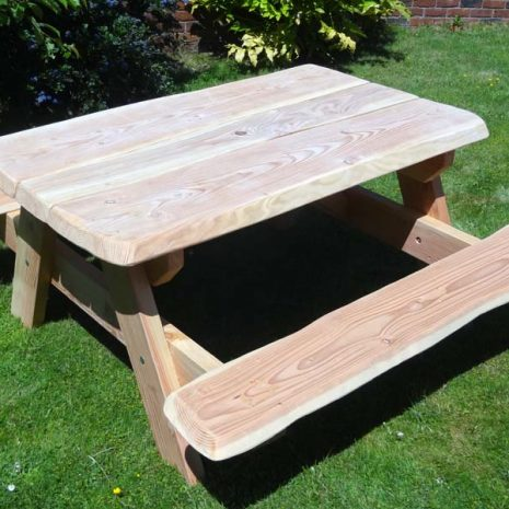 Handmade in Wales - Wooden A Frame Picnic Table - three quarter view