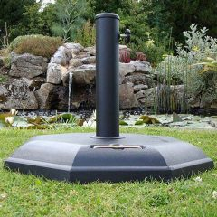 Octagonal 32kg Concrete Parasol Base - Side View