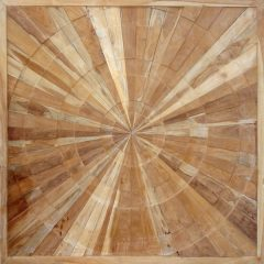 PJ_MAK_MJ373 Spiral Pattern Teak Wall Panel 100cm Square